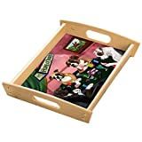Home of Boxers 4 Dogs Playing Poker Wood Serving Tray