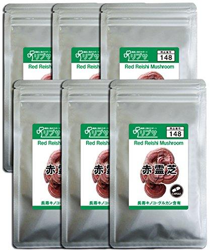 赤霊芝 約1か月分×6袋 C-148-6 B071HN7ZFP   約6ヶ月分(約1ヶ月分×6袋)