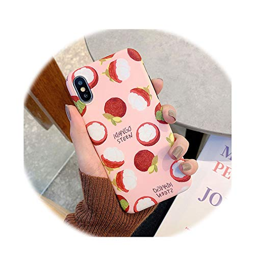 Cute Summer Tropical Fruit Kiwi Avocado Case for iPhone X Xs Xs Max Xr 6 6S 7 8 Plus Soft Imd Protector Arc Phone Cover,I,for iPhone Xr