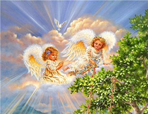 DIY 5D Diamond Painting Full Drilling Embroidery Rhinestone Paste Angel4 DIY Painting Cross Stitch Household A Living…