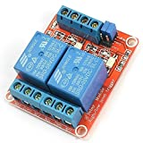 GEREE DC 5V 2 Channel Relay Module High/low level trigger with Optocoupler for Arduino