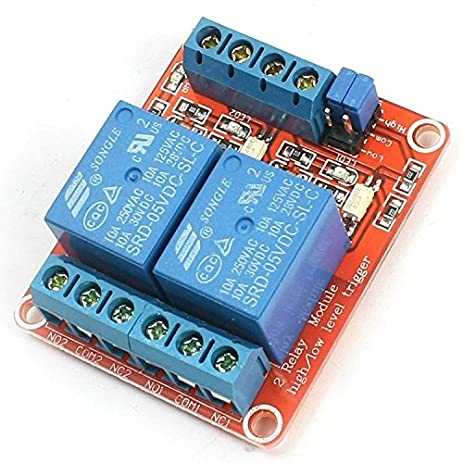 512GhMztXvL._SY463_ amazon com geree dc 5v 2 channel relay module high low level Relay Switch Wiring Diagram at n-0.co
