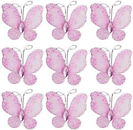 Pixnor Butterflies Glitter Butterfly Decoration