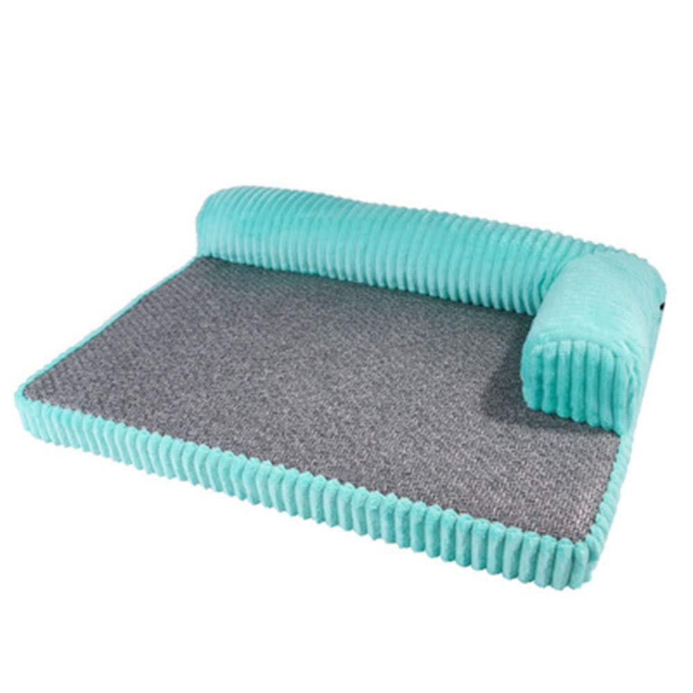 Green Large Green Large Sofa Dog Bed, Fashion Washable Cushion Spring and Summer Medium and Large Dog Mat Bed Breathable Not Easily Deformed,Green,L