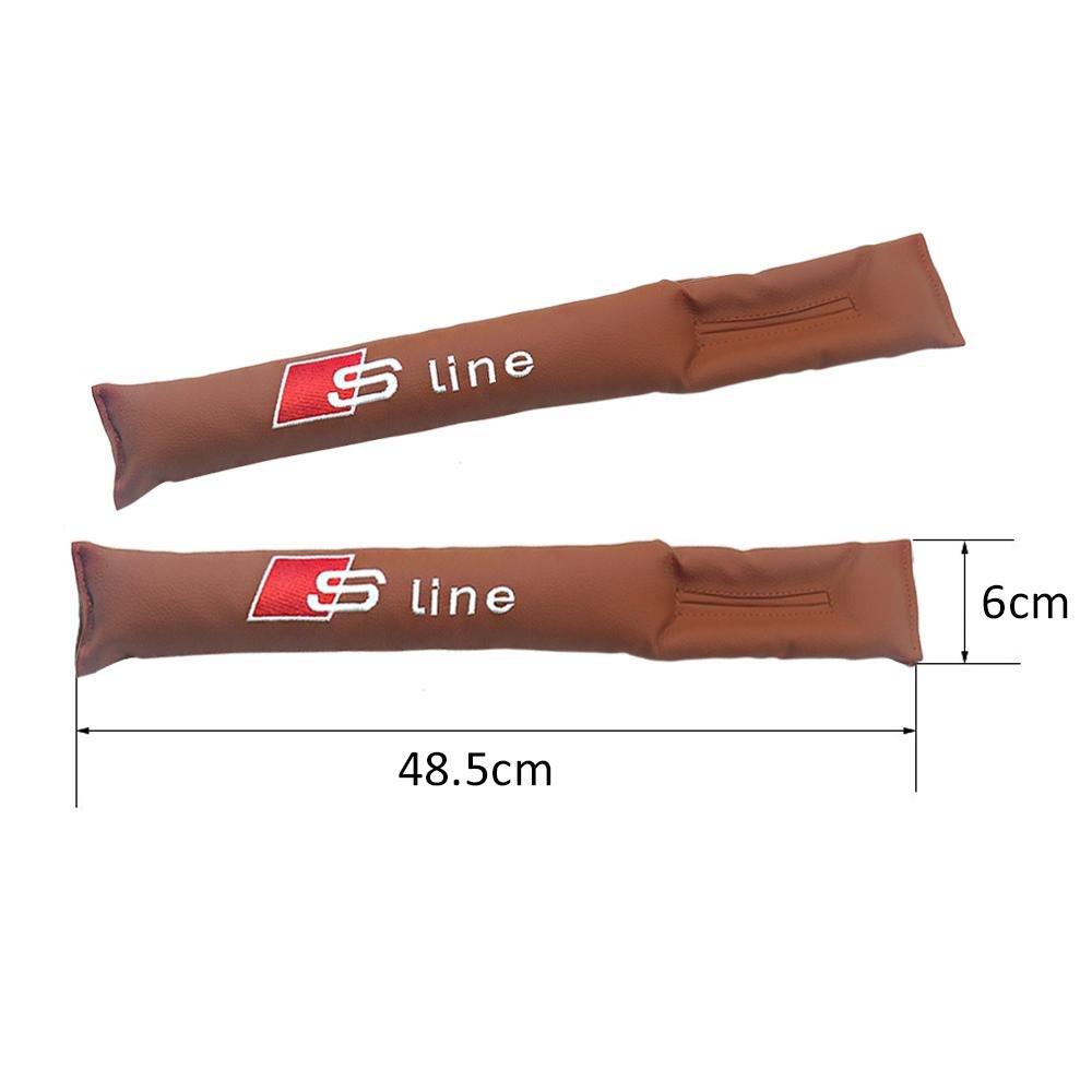 confezione da 2 pezzi Valuetom Seggiolino auto Gap Filler Pad Cuscinetto di Protezione della Slot Sede Automobilistica con Etichetta Sline Ricamo