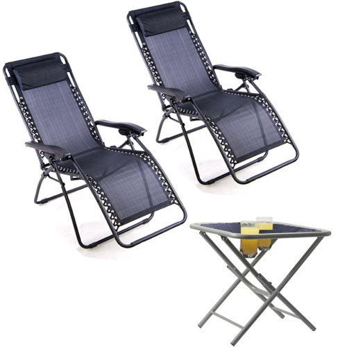 ZERO GRAVITY TEXTOLINE CHAIR TABLE SET GARDEN RECLINING RECLINER LOUNGER  sc 1 st  Amazon UK & ZERO GRAVITY TEXTOLINE CHAIR TABLE SET GARDEN RECLINING RECLINER ... islam-shia.org
