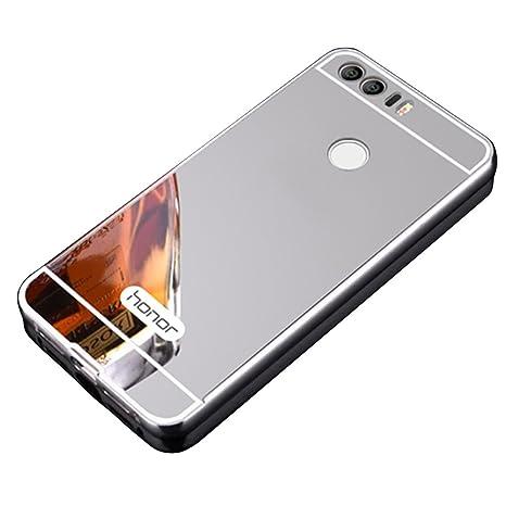 Huawei Honor 8 Cover, Vandot Duro Híbrido Carcasa para Huawei Honor 5X PREMIUM Bumper Case del Metal Aluminio + PC Ultrafina Espejo Efecto Trasero ...