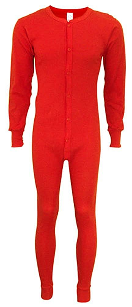 Indera - Mens Long Sleeve Union Suit, 865