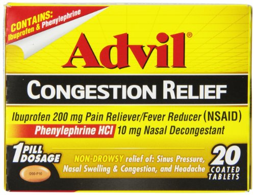 Advil Soulagement de la congestion comprimés, 20 comte