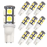 GRV T10 921 194 9-5050 SMD LED Bulb lamp High Bright Cool White DC 12V Pack of 10