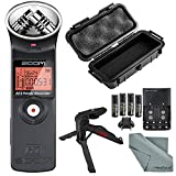 Zoom H1 Portable Digital Audio Recorder Deluxe Bundle with Protective Case+ XPIX Tripod + Batteries + Fibertique Cloth