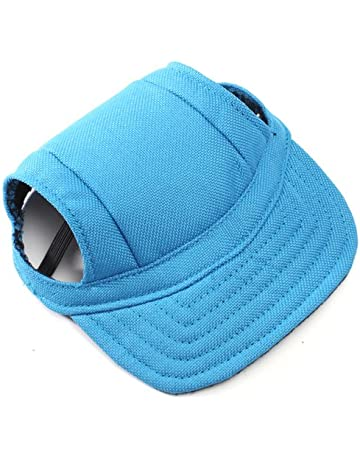 619c3b47893 OCSOSO Pet Dog Canvas Hat Sports Baseball Cap with Ear Holes for Small  Medium Dogs