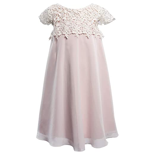 1afa791f7 Image Unavailable. Image not available for. Color: Miama Lace Chiffon Cap  Sleeves Wedding Flower Girl Dress ...