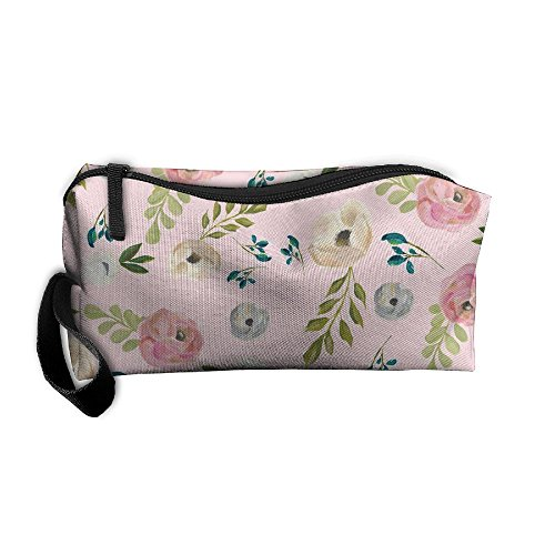 Cosmetic Bags Vintage Inspired Makeup Bag With Brush Pouch Portable Zipper Wallet Hangbag Pen For Girl And Woman - Zipper Von Dharma