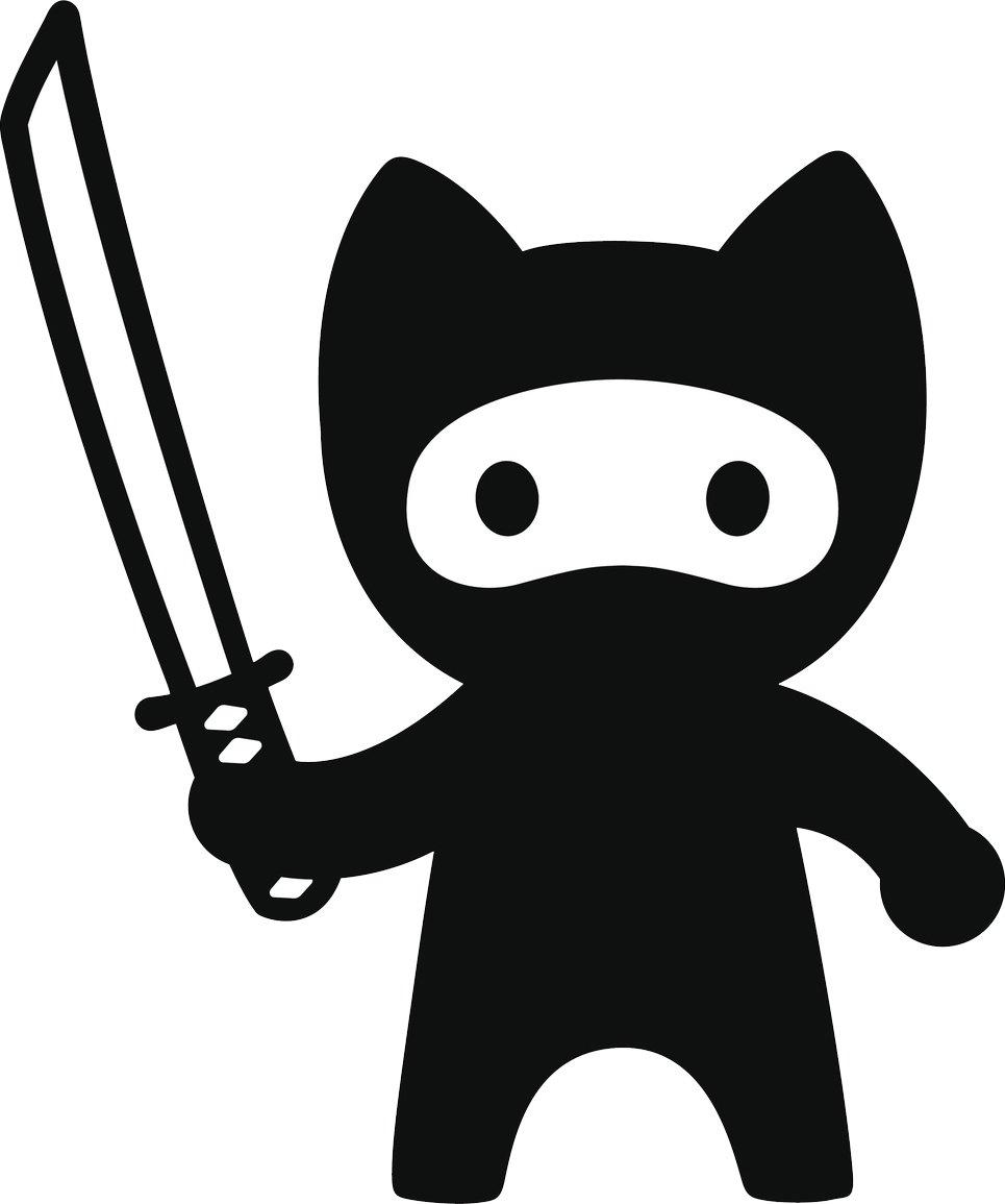 Amazon.com: COOL Black Kitty Cat Ninja de dibujos animados ...