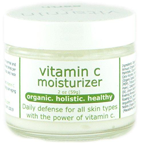 Organic Vitamin C Moisturizer - Natural botanicals with Vitamin C, Niacinamide & Jojoba - 2 oz.