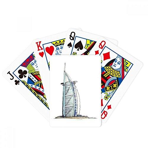 Burj al-Arab luxury hotel Dubai Poker Playing Card Tabletop Board Game Gift by beatChong