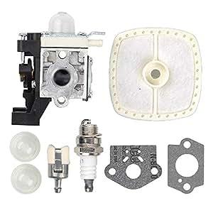 Salvador carburador con junta filtro de aire imprimación bombilla para bujías filtro de combustible para ZAMA rb-k93Echo pas-225pe-225ppf-225GT-225
