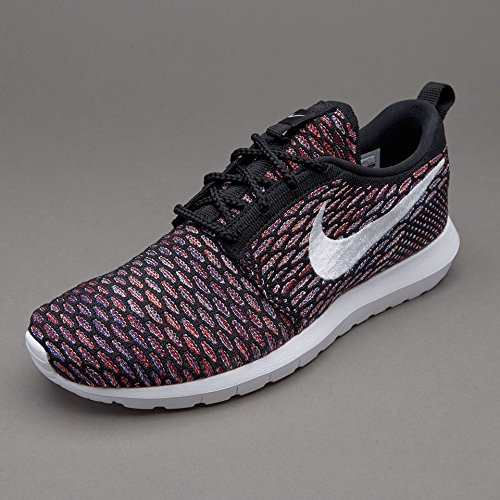 Nike Roshe Nm Flyknit, Zapatillas de Running para Hombre Negro (Black / White-University Red)