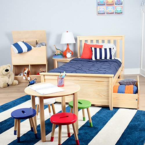 Max & Lily Solid Wood Twin-Size Bed with Under Bed Storage Drawers, Natural by Max & Lily (Image #3)