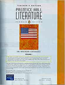 Prentice hall literature the american experience teacher edition