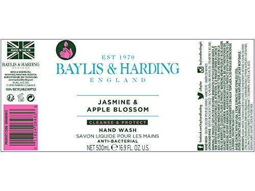 Baylis Harding Jasmine And Apple Blossom Anti Bacterial Hand Wash 3 X 500ml