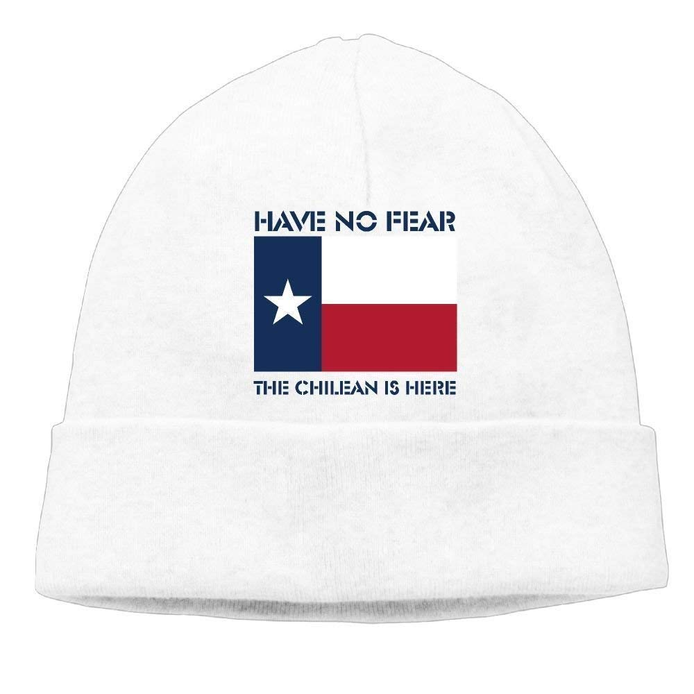 DFBRV Have No Fear Chilean is Here Chile Chileans Soft Knit Beanie Hat Warm Thick Winter Hat for Men Have No Fear Chilean is Here Chile Chileans Winter Warm cap Funny Beanie Caps