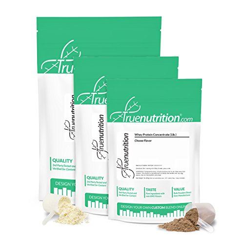 True Nutrition Whey Protein Concentrate | 3rd Party Tested | Unflavored/Unsweetened | 5 lbs. |