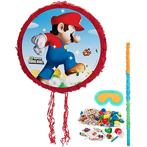 BirthdayExpress Super Mario Bros Party Supplies - Pinata Kit -