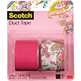 Scotch Duct Tape, Paisley Princess and Hot Pink, 1.42-Inch by 5-Yard, 2-Roll