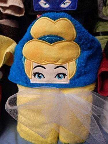Personalized Glass Slipper Princess Hooded Towel