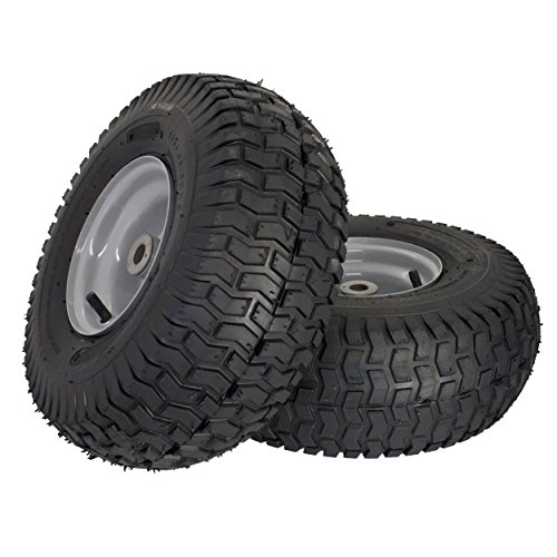 MARASTAR 21436-2PK 15x6.00-6'' Front Tire Assembly Replacement for Husqvarna Riding Mowers by MARASTAR