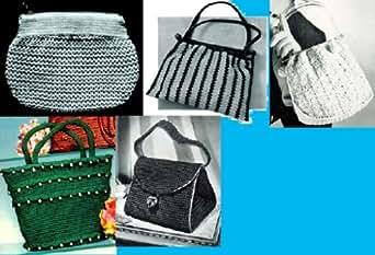 Amazon.com: Bolsas de crochê vamos ~ 5 padrões mais de saco de mão