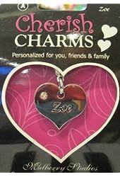 A Personal Name Charm Bracelet/necklace/keychain: Zoe