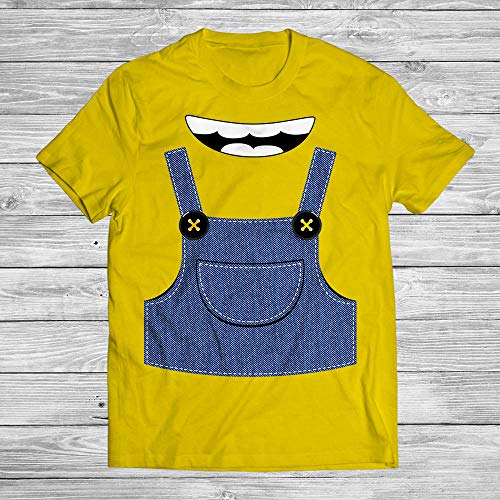 Yellow Monster Suit Costume Minion Halloween Shirt Banana Kids Youth Customized Handmade Hoodie/Sweater/Long Sleeve/Tank Top/Premium T-shirt]()