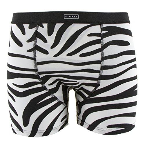 Kickee Pants Print Mens Boxer Brief Natural Zebra Print (Medium) by Kickee Pants