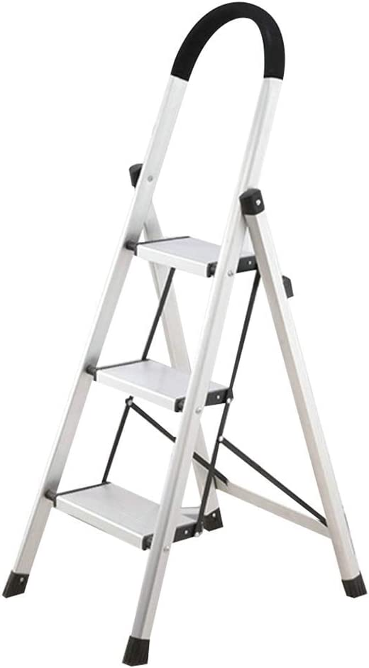 HOMRanger Escalera Plegable Ampliación Antideslizante Conjunto Completo Plegable Hogar Simple, Escalera de 3 escalones de Doble Uso: Amazon.es: Hogar