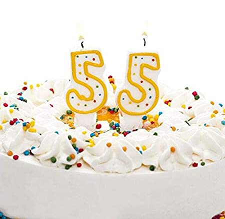 Tremendous 55Th Birthday Candles Color Dot Smokeless Birthday Number Candle Birthday Cards Printable Giouspongecafe Filternl