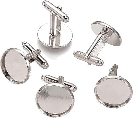Cufflink set silver plated