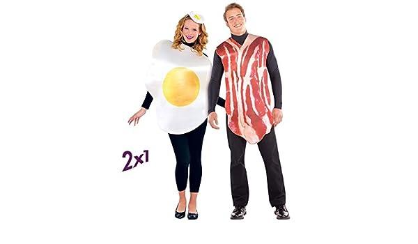 Christys London Disfraz de Huevo y Disfraz de Bacon 2x1 para ...