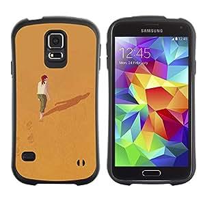 "Hypernova Slim Fit Dual Barniz Protector Caso Case Funda Para Samsung Galaxy S5 [Significado Profundo Sola Chica Redhead""]"