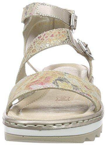 Remonte Dorndorf R7752 - Sandalias Mujer Varios Colores - Mehrfarbig (beige/altsilber / 90)