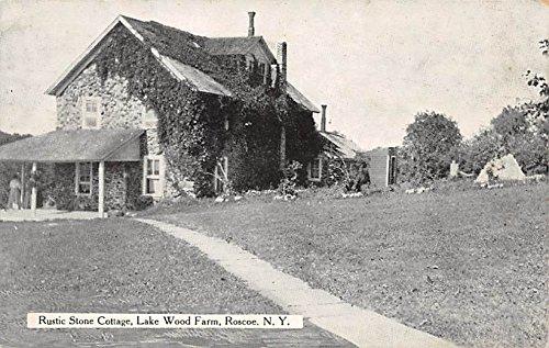 Rustic Stone Cottage Lake Wood Farm Roscoe, New York, Postcard