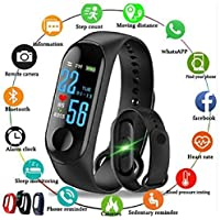 Celrax M3 Smart Band Fitness Tracker Watch Heart Rate with Activity Tracker Waterproof Body Functions Like Steps Counter, Calorie Counter, Blood Pressure, Heart Rate Monitor OLED Touchscreen