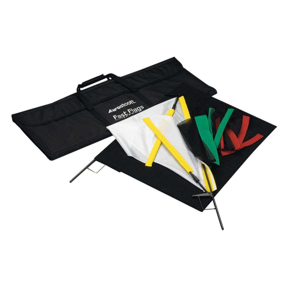 Westcott 1957 Fast Flags 24 x 36 Inches Fast Flag Kit (Black)