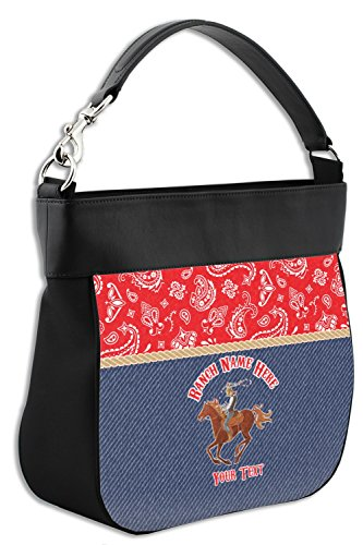 Purse Western Trim Genuine Ranch Personalized w Front Leather amp; Hobo Back ATw4HF