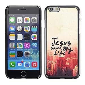 Paccase / Dura PC Caso Funda Carcasa de Protección para - BIBLE Jesus Saved My Life - Apple Iphone 6