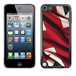 MOBMART Carcasa Funda Case Cover Armor Shell PARA Apple iPod Touch 5 - Red And White Abstract
