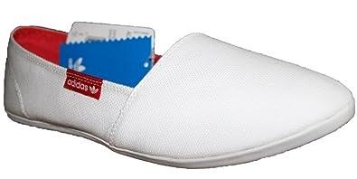 Adidas Originals Adidrill Canvas Schuhe Slipper Ballerina Sneaker weiß rot,  Schuhgröße EUR 38 297e0f47a5