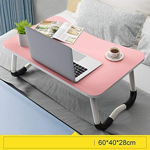 ライティングデスク寮の部屋のノートパソコンデスク高密度木質パネルのタブレットコンピュータデスク折り畳み式調査表 GW (Color : Light pink)